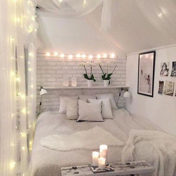 Die besten 25+ Schlafzimmer lichterkette Ideen auf Pinterest - dekoideen mit textilien kreieren sie gemutliche atmosphare zuhause