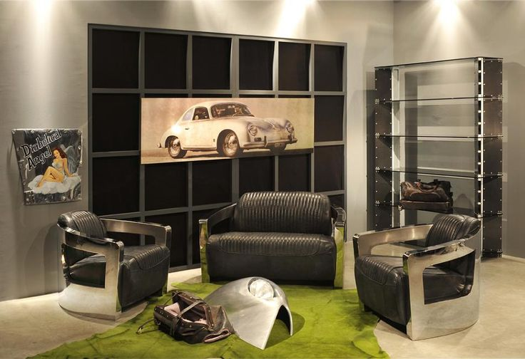 Poltrone e divani in acciaio e pelle - Arteinmotion