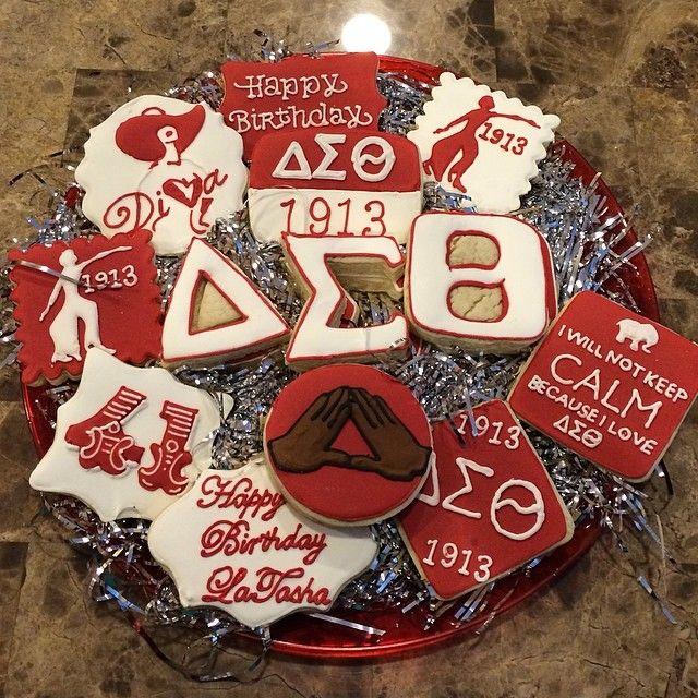 Delta Sigma Theta cookie platter