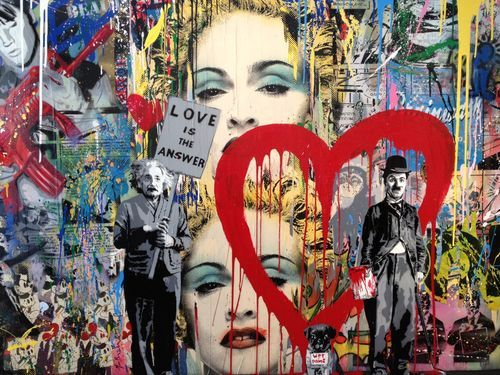 Art trends unique x mas gifts mr brainwash paintings for Mural by mr brainwash