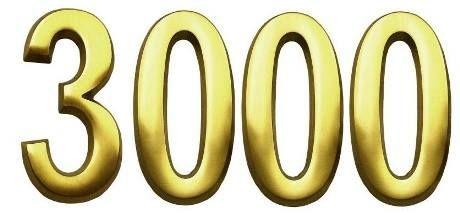 Superare i 3000 Fans e non essersi neppure accorti... siamo proprio degli esauriti.  Grazie, siete meravigliosi tutti !!!!  Love-love-love yesssss!!!
