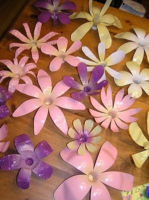 diy plastic flowers for parties