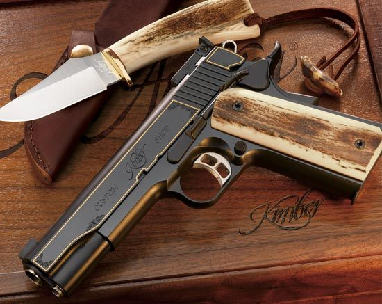 Kimber Bone Handle Pistol and Knife