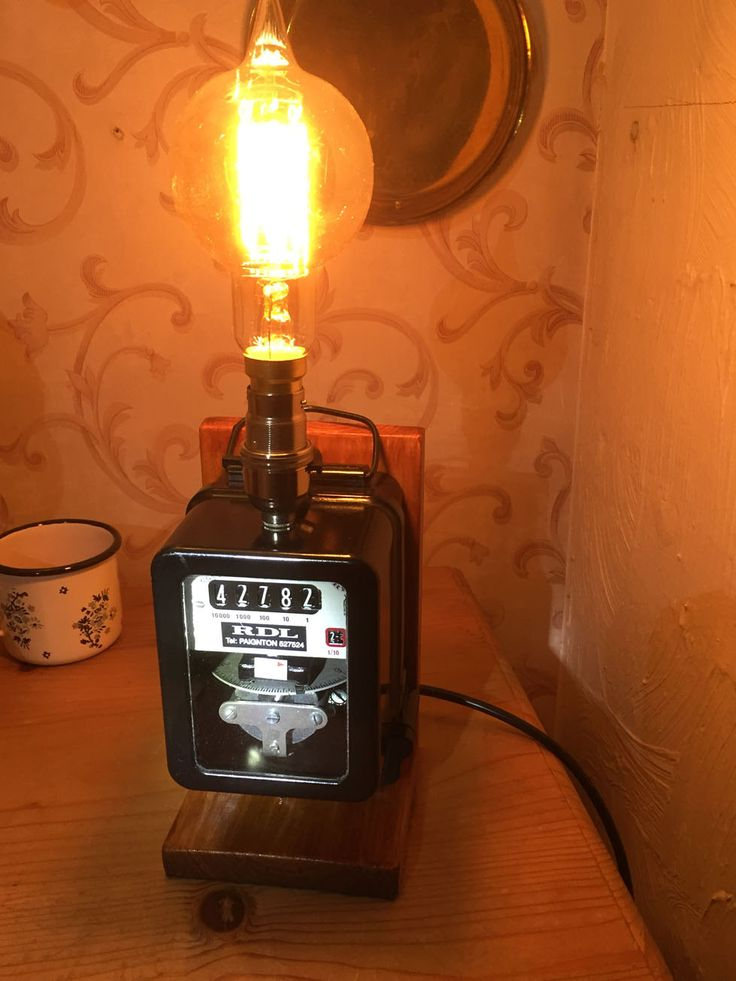 45 Best Electric  U0026 Gas Meter Lamps Images On Pinterest