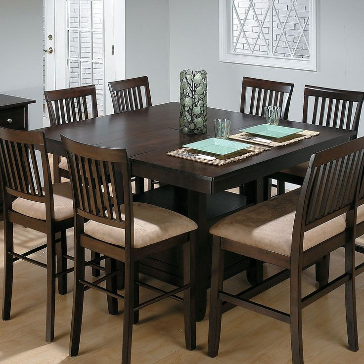 This versatile mission-style counter height table set with two stools features an 18-inch leaf to add more dining room at your table. Description from bullardfurniture.com. I searched for this on bing.com/images