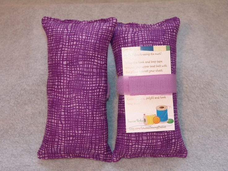 Port pillow, Pacemaker, seat belt pillow, seat belt cushion, Chemo Port, Breast Cancer pillow, The Ouch-less pillow, Porta pillow, Purple by LouisesSewingBasket on Etsy
