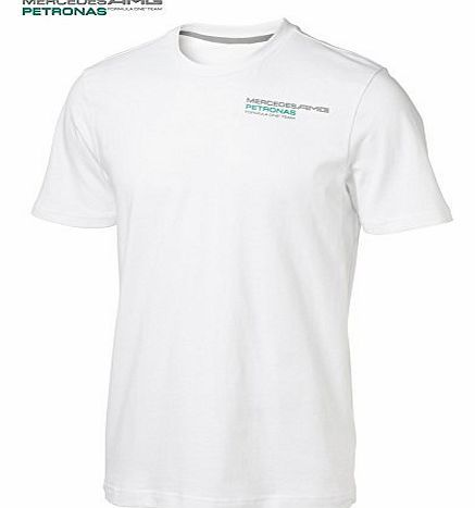 Mercedes-Benz Mercedes GP 2012 fan T-shirt white L Get behind the Mercedes GP team this season with this Mercedes GP fan T-shirt. This classic fit T-shirt has a simple design and features the Mercedes GP logo on the left (Barcode EAN = 4051908670662) http://www.comparestoreprices.co.uk/formula-1-merchandise/mercedes-benz-mercedes-gp-2012-fan-t-shirt-white-l.asp