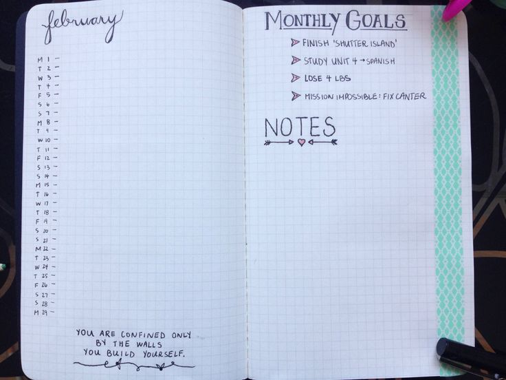 finally set up my bullet journal.