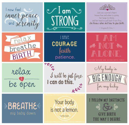 Labor Affirmation Cards | Pregnancy & Birth :) | Pinterest ...