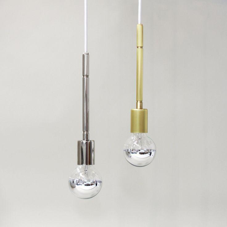 Solid stem pendant by pelle designs