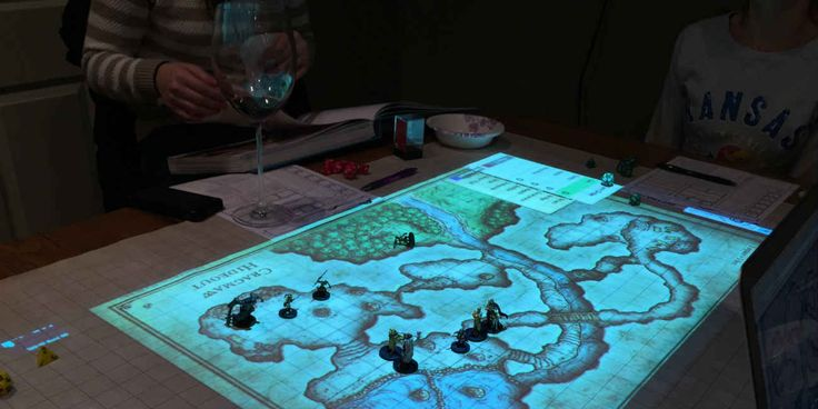 Dungeons and Dragons played on digital maps looks great (oh, to be 14 again....)