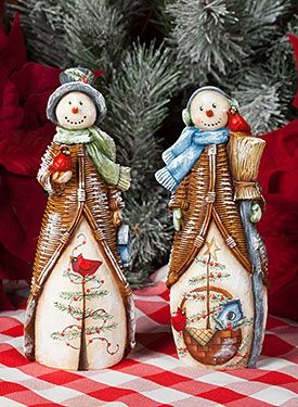 Too Cute Snowmen by Deb Antonick. Exclusive surface and Free Downloadable pattern can be found at www.ArtistsClub.com