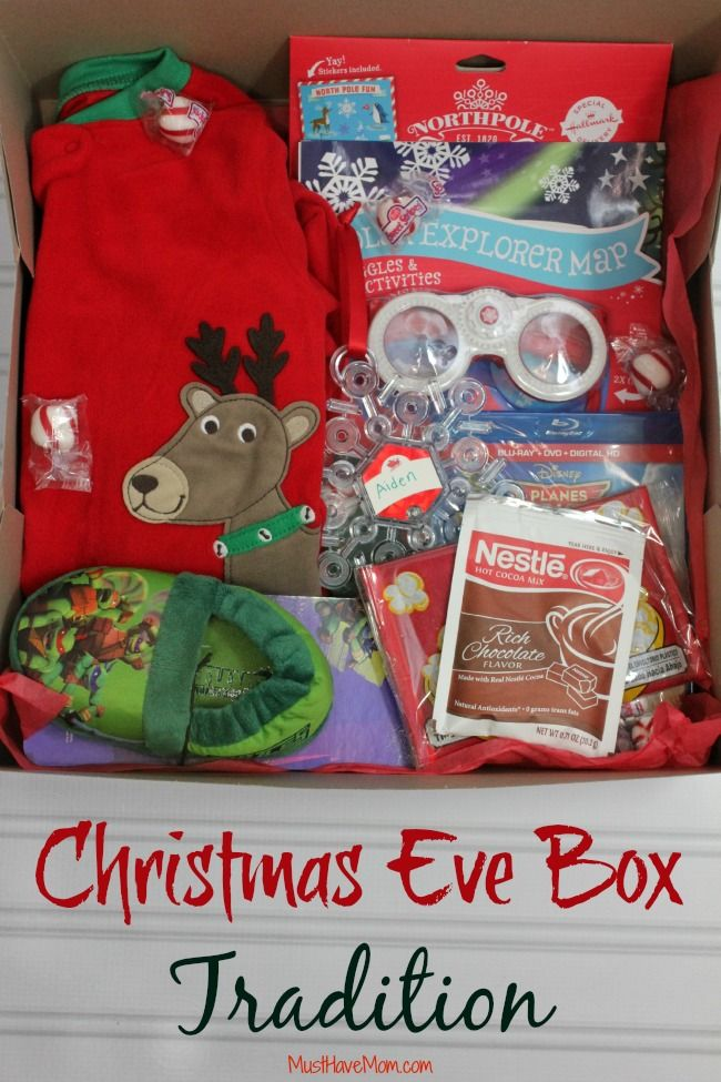 Doing this again- kids loved opening one gift on Christmas Eve! Christmas Eve Box Tradition & Ideas!