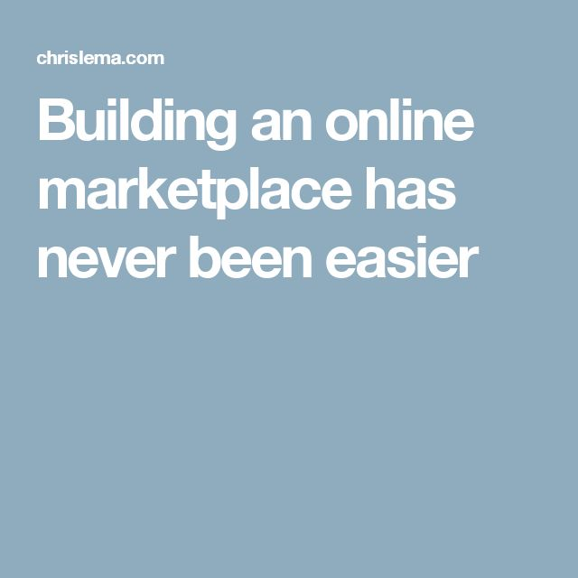 Building an online marketplace has never been easier