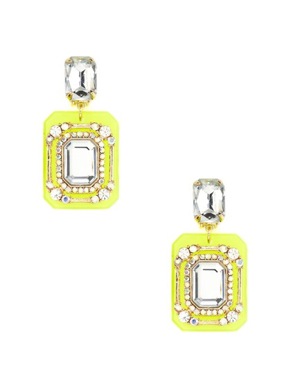 Adia Kibur Neon Yellow Square Drop Earrings: Squares Drop, Drop Earrings, Jewelry Lust, Yellow Squares, Kibur Neon, Adia Kibur Anyon, Accessories, Jewelry Boxes, Neon Yellow