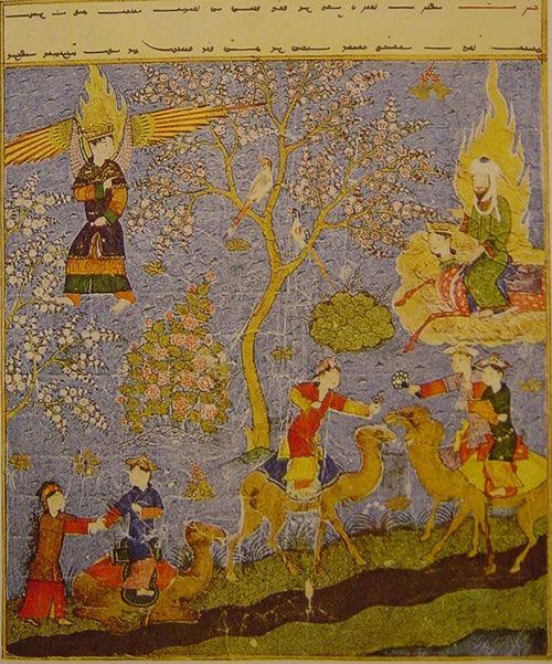 Hz. Muhammad on Buraq