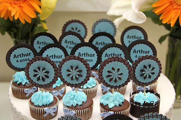 Festa Azul e Marrom Festa Trenzinho cups