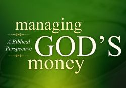 Tithing.....being a steward for God's money