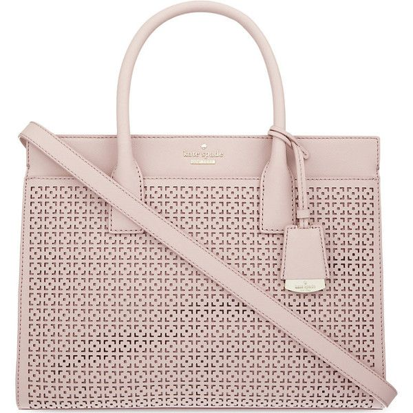 KATE SPADE NEW YORK Cameron Street Candance leather satchel (5.855.240 IDR) ❤ liked on Polyvore featuring bags, handbags, kate spade purses, leather satchel, pink purse, pink satchel handbags and leather satchel purse