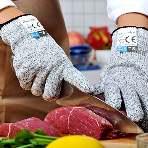 Dowellife Cut Resistant Gloves Food Grade Level 5 Protection, Safety Kitchen Cuts Gloves for Oyster Shucking, Fish Fillet Processing, Mandolin Slicing, Meat Cutting and Wood Carving. (X-Large) - Big Sale Online Shopping USA