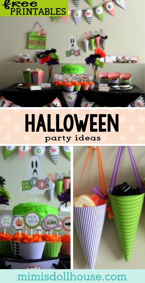 Halloween FREE Halloween Party Printables HALLOWEEN Decor - free halloween printable decorations