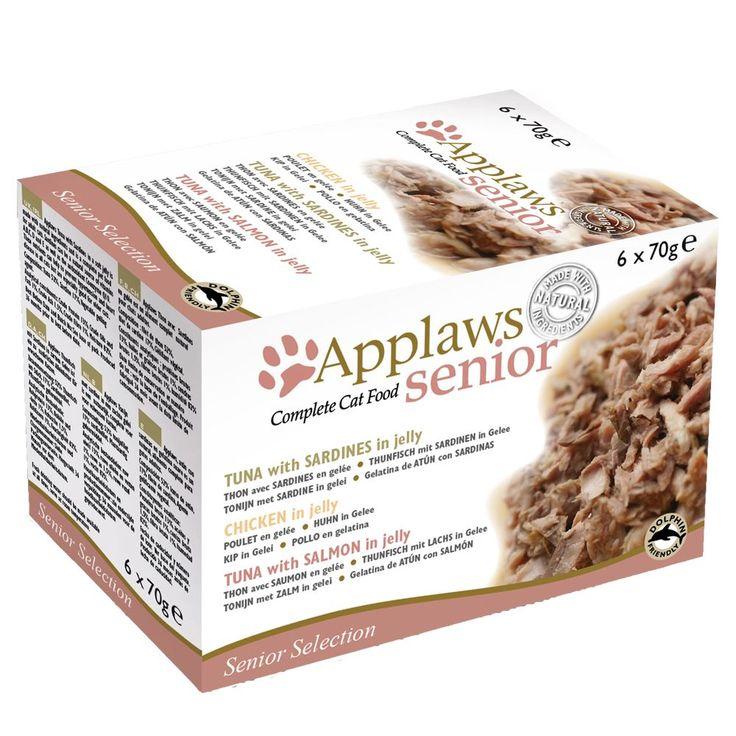 Animalerie  Lot mixte Applaws Senior en gelée 6 x 70 g pour chat  3 variétés
