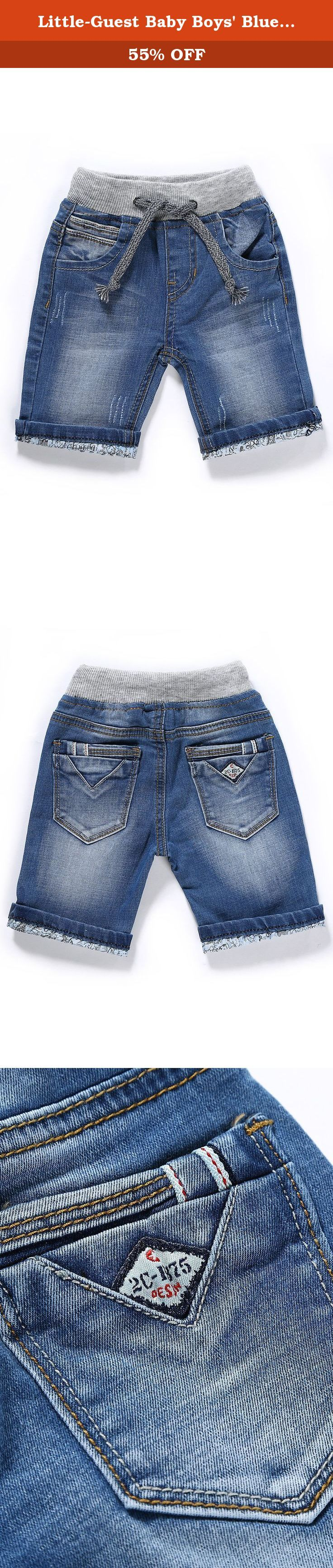 """Little-Guest Baby Boys' Blue Knee-Length Jeans Shorts B211 (24-30 Months, Light Blue). Pay attention to our Size Chart: 6-9 Months WAIST:48cm/18.7"""" HIP:54cm/21.1"""" BOTTOM:24cm/9.4"""" BODY LENGTH:24cm/9.4"""" 9-12 Months WAIST:50cm/19.5"""" HIP:56cm/21.8"""" BOTTOM:25cm/9.8"""" BODY LENGTH:25cm/9.8"""" 12-18 Months WAIST:53cm/20.7"""" HIP:59cm/23"""" BOTTOM:26.5cm/10.3"""" BODY LENGTH:26.5cm/10.3"""" 18-24 Months WAIST:54cm/21.1"""" HIP:60cm/23.4"""" BOTTOM:27cm/10.5"""" BODY LENGTH:27cm/10.5"""" 24-30 Months WAIST:56cm/21.8""""..."""
