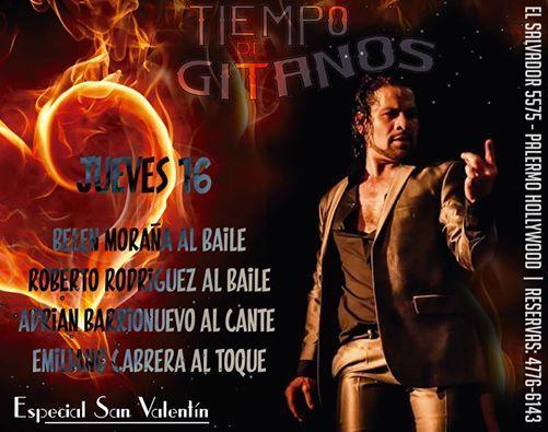 ESPECIAL SEMANA DE SAN VALENTÍN EN TIEMPO DE GITANOS!!! SOLO CON RESERVAS AL 4776 6143