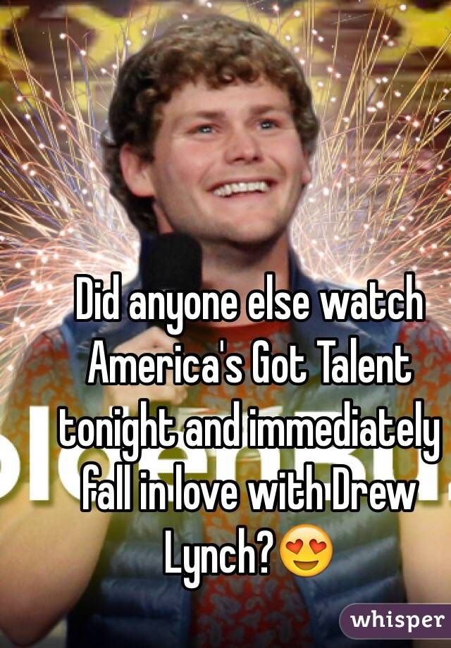 Did anyone else watch America's Got Talent tonight and immediately ...