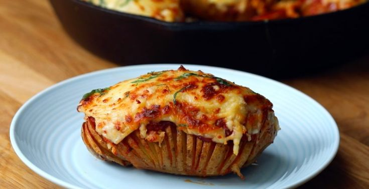 Hasselback potatoes are a fun way to cook a potato. They have domino-like slots that are perfect for filling with delicious things like pepperoni, sauce, and cheese. Pizza Hasselback potatoes…