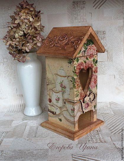 Кухня ручной работы. Ярмарка Мастеров - ручная работа. Купить Чайный домик Чай с лепестками роз. Handmade. Кремовый, для интерьера