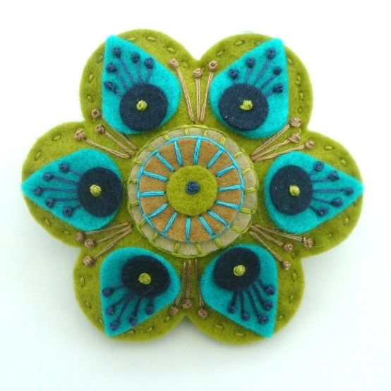 felt applique by Ladybumblebee