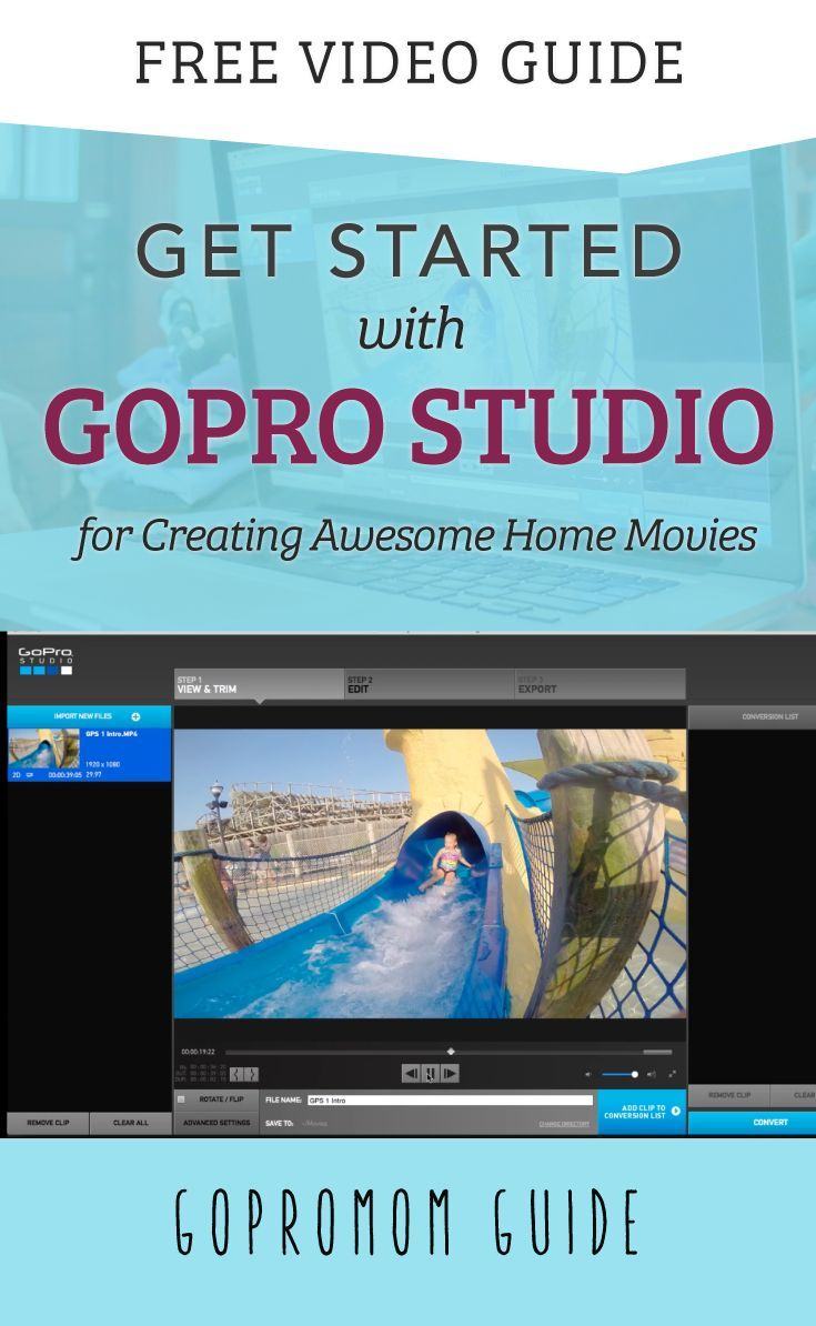 Best 25 gopro software ideas on pinterest gopro video gopro get started with gopro studio for creating awesome home movies pronofoot35fo Images