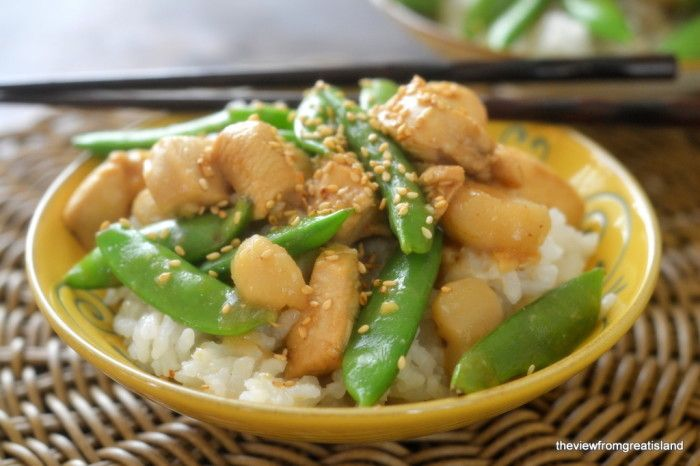 Chicken with snow peas. Switch out soy sauce for coconut aminos and ...