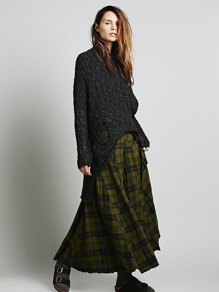 Skirt Cp Shades Sienna Plaid Maxi Skirt At Free People