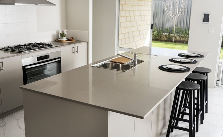 Preparing meals will be a breeze on the huge 1200mm Caesarstone island bench