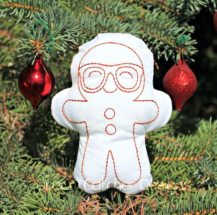 Geeky Gingerbread boy Doodle It 5x7 (1)