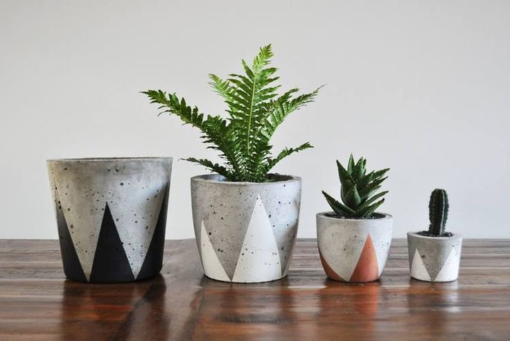 Concrete planters available in a wide range of styles, sizes and colours &