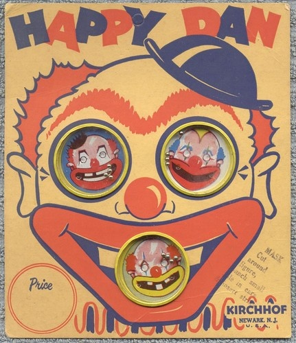 Vintage Kirchhof Happy Dan Clown Palm Puzzles Dexterity Games On Store Card