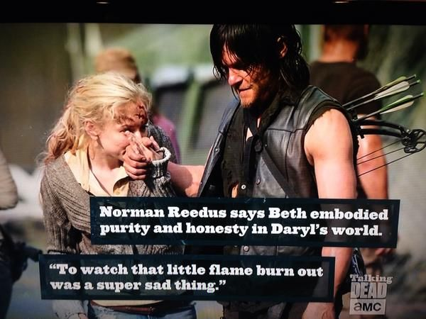 "His reaction was the sad part. I was like ""well Beth you dumbass, what did you think was going to happen?!"" Lol"