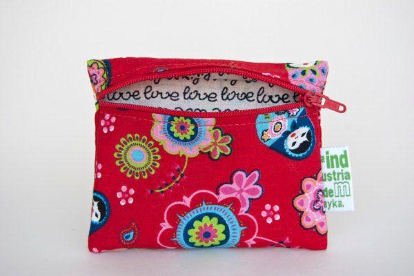 Coin purse / wallet or zipper pouch Matroshka de LaIndustria en Etsy