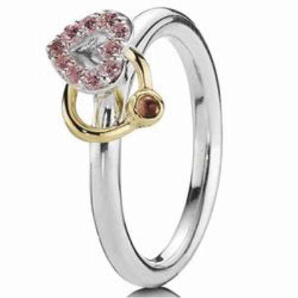 anillos de compromiso oro blanco pandora