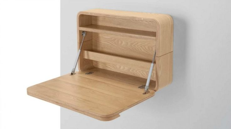 Desk Cute Folding Wall Desk Wood Construction Metal Hardware Oak Fnish One Shelves And Pocket Folders Simple Folding Wall Desk