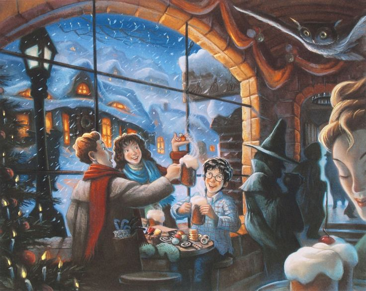 Harry Potter - The Three Broomsticks - Mary GrandPre - World-Wide-Art.com - #harrypotter #jkrowling #marygrandpre