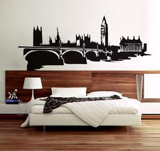 Skyline Di Londra Da Parete, Decalcomania adesivo vinile murales decorativo