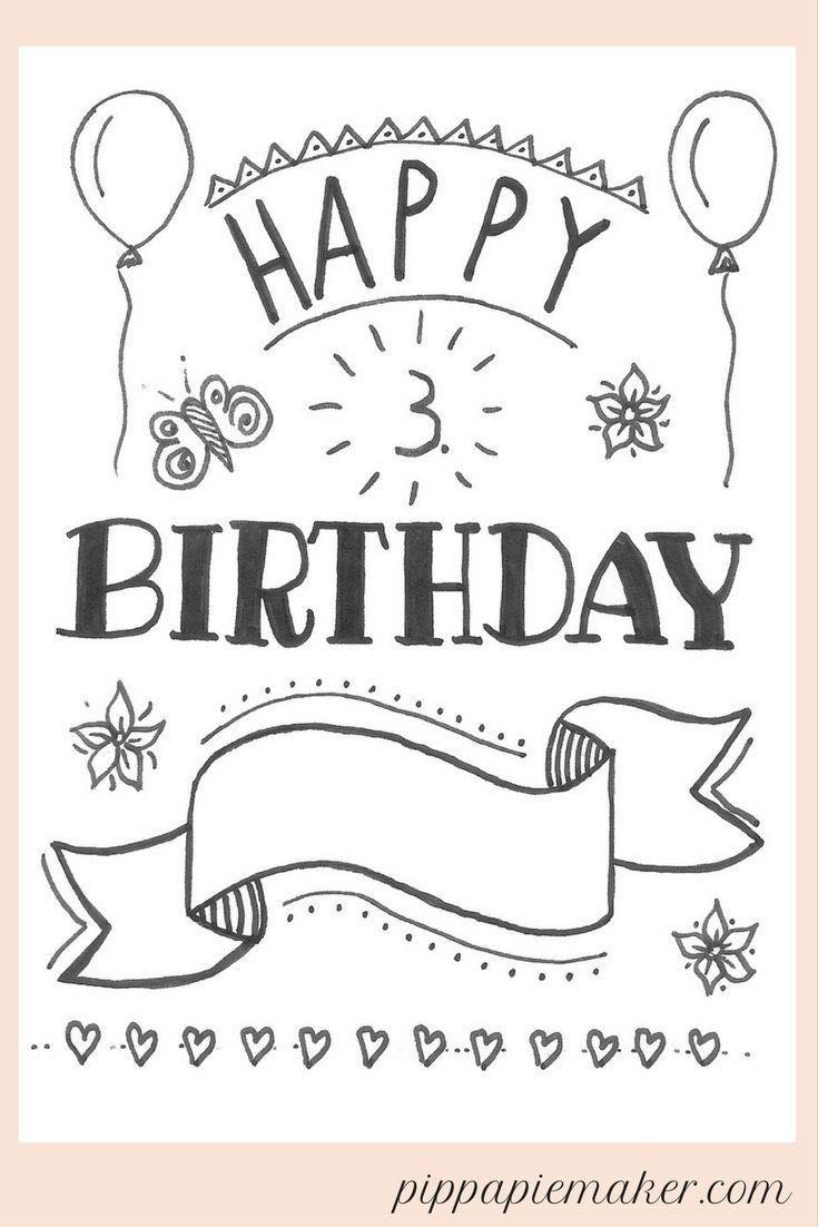 Geburtstagskarten Namen Awesome Hand Lettering Geburtstagskarte