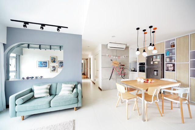 Singapore HDB 4-room interior design