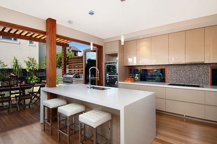 Open Plan Island Counter Kitchen
