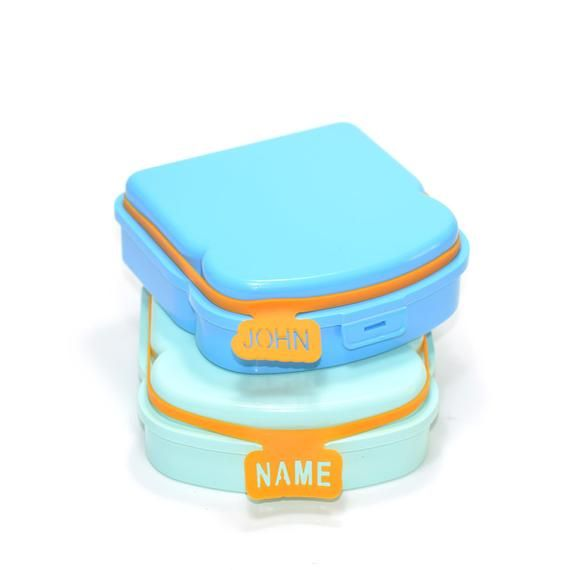 Personalized Name Tags Labels For Lunch Box And Containers Etsy Personalized Lunchbox Lunch Box Personalized Lunch