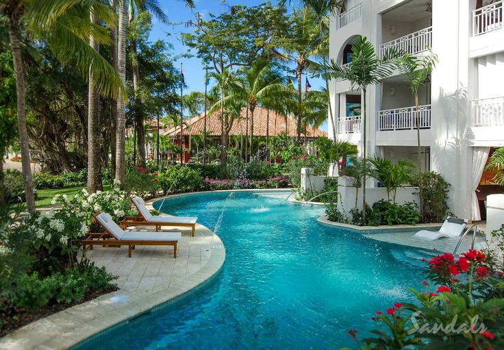 Swim-out suite at Sandals Barbados; a luxury all-inclusive couples only resort located on the Caribbean island of Barbados.